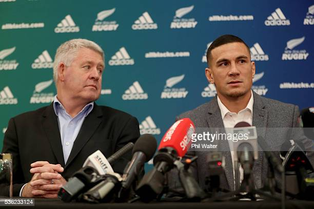 Steve Tew and Sonny Bill Williams at the Heritage Hotel on June 1 2016 in Auckland New Zealand Sonny Bill Williams announced today he has signed a...