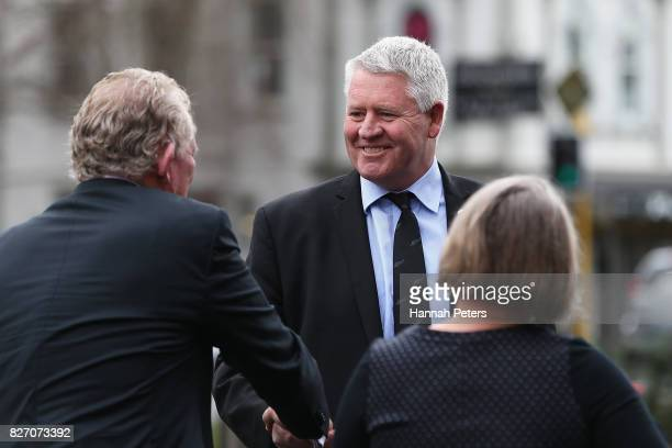 Steve Tew attends the funeral service for Sir John Graham on August 7 2017 in Auckland New Zealand The former All Blacks captain died on Wednesday