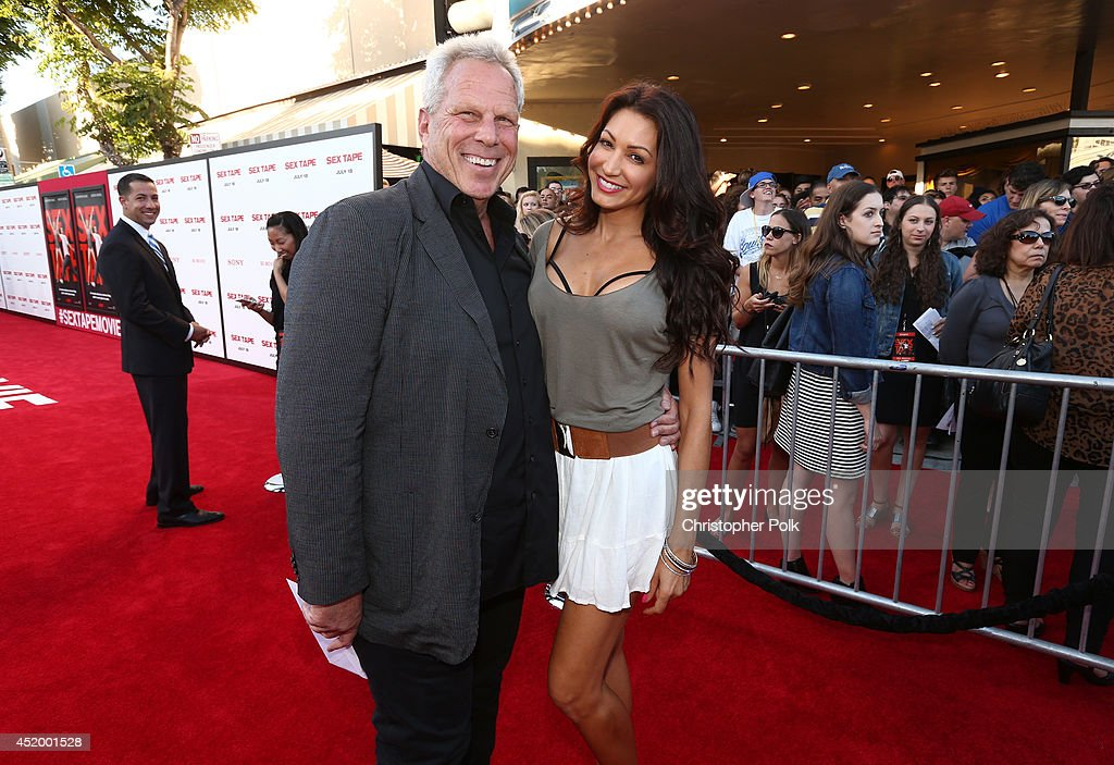 <a gi-track='captionPersonalityLinkClicked' href=/galleries/search?phrase=Steve+Tisch&family=editorial&specificpeople=235783 ng-click='$event.stopPropagation()'>Steve Tisch</a> (L) and guest attend the premiere of Columbia Pictures' 'Sex Tape' at Regency Village Theatre on July 10, 2014 in Westwood, California.