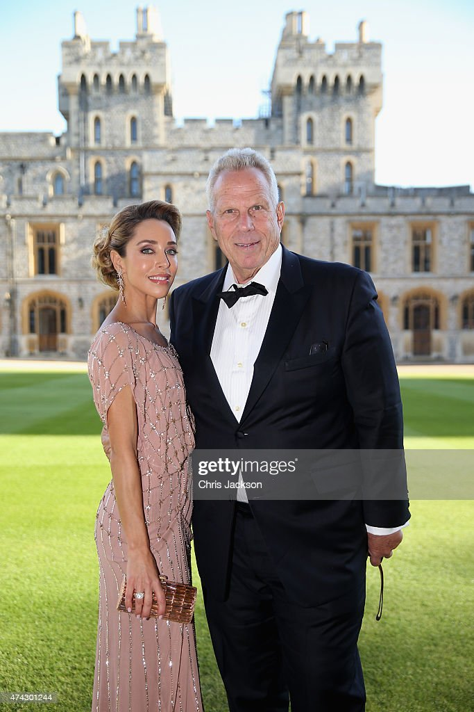 Steve Tisch and Katia Francesconi attend a dinner to mark the 25th anniversary of Tusk Trust at Windsor Castle on May 21, 2015 in Windsor, England. The reception and dinner took place in the presence of the Royal Patron of Tusk Prince William, Duke of Cambridge. Tusk is a conservation charity which aims to address the greatest challenges faced by Africa's wildlife and people.