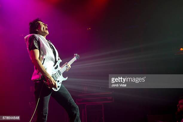Steve Vai performs on stage at Sala Barts on July 21 2016 in Barcelona Spain