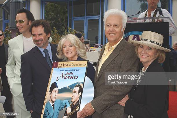 Steve Valentine Dennis Miller Connie Stevens and Jack Jones and Eva Marie Saint at the Hollywood Walk of Fame ceremony naming Bob Hope 'Citizen of...