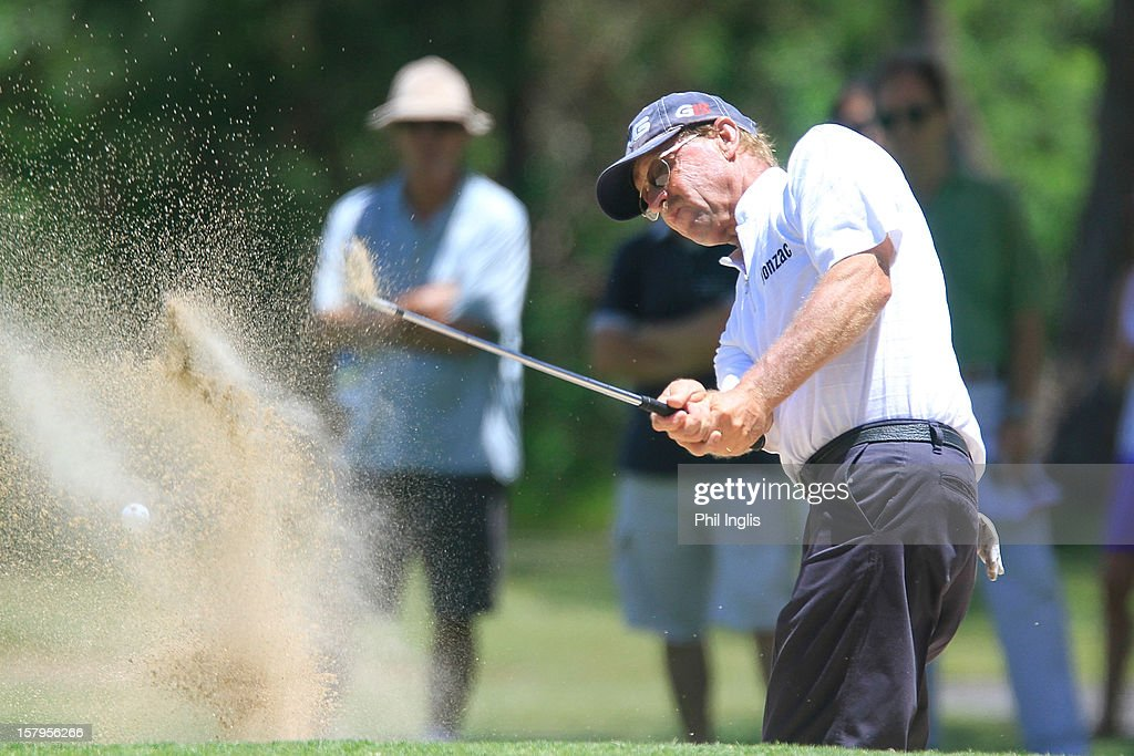 Steve Van Vuuren of South Africa plays a bunker shot during the second round of the MCB Tour Championship played at the Legends Course, Constance Belle Mare Plage on December 8, 2012 in Poste de Flacq, Mauritius.