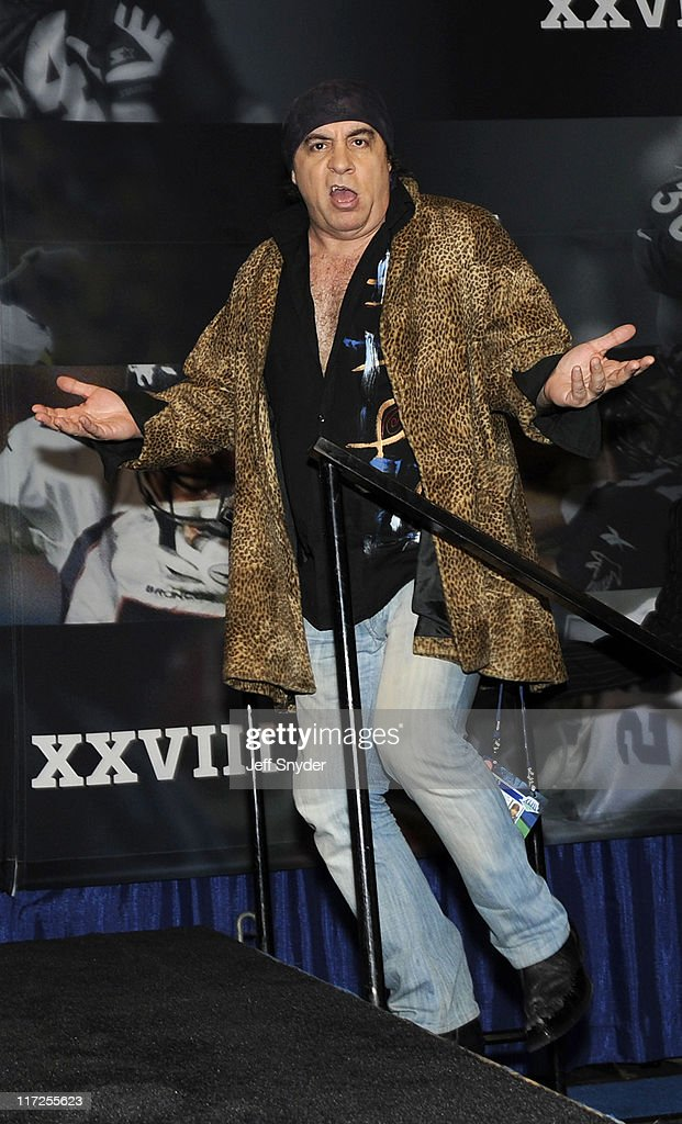 Steve Van Zandt of the E Street Band speaks at the Bridgestone Super Bowl XVLII Half Time Show Press Conference held at the Tampa Convention Center on January 29, 2009 in Tampa, Florida.
