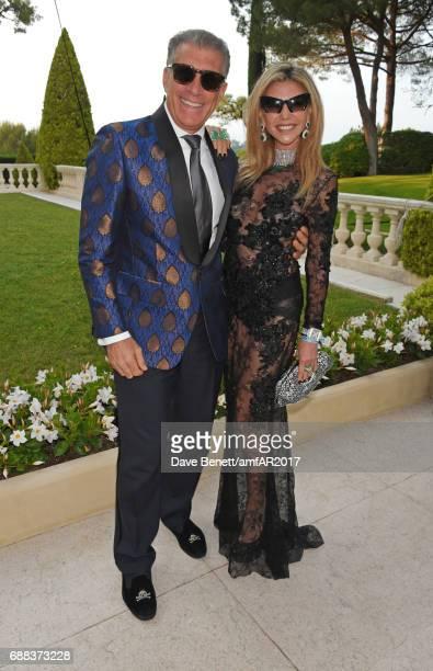Steve Varsano and Lisa Tchenguiz arrive at the amfAR Gala Cannes 2017 at Hotel du CapEdenRoc on May 25 2017 in Cap d'Antibes France