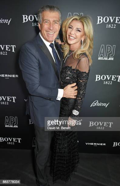 Steve Varsano and Lisa Tchenguiz attend the BOVET 1822 Brilliant is Beautiful Gala benefitting Artists for Peace and Justice's Global Education Fund...