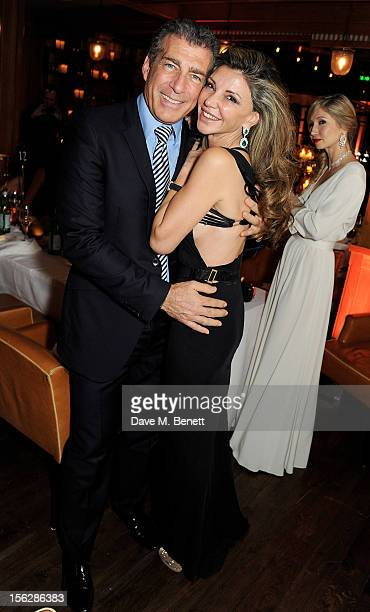 Steve Varsano and Lisa Tchenguiz attend the de Grisogono private dinner at 17 Berkeley St on November 12 2012 in London England