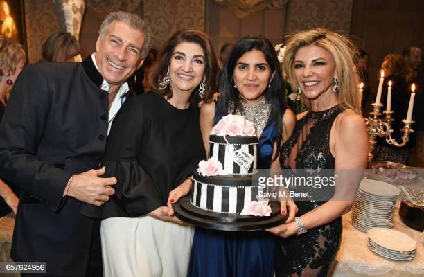 Steve Varsano Fatima Maleki Leila Maleki and Lisa Tchenguiz attend Lisa Tchenguiz's party hosted by Fatima Maleki in Mayfair on March 24 2017 in...
