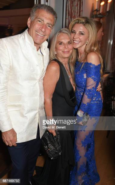 Steve Varsano Tina Green and Lisa Tchenguiz attend the de Grisogono 'Love On The Rocks' party during the 70th annual Cannes Film Festival at Hotel du...