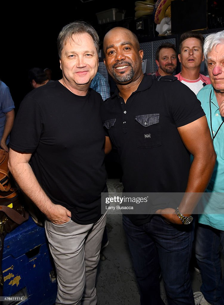 Steve Wariner and Darius Rucker attend the 6th Annual 'Darius And Friends' Concert at Wildhorse Saloon on June 8 2015 in Nashville Tennessee