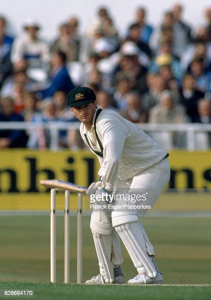 Steve Waugh batting for Australia during his innings of 177 not out in the 1st Test match between England and Australia at Headingley Leeds 9th June...