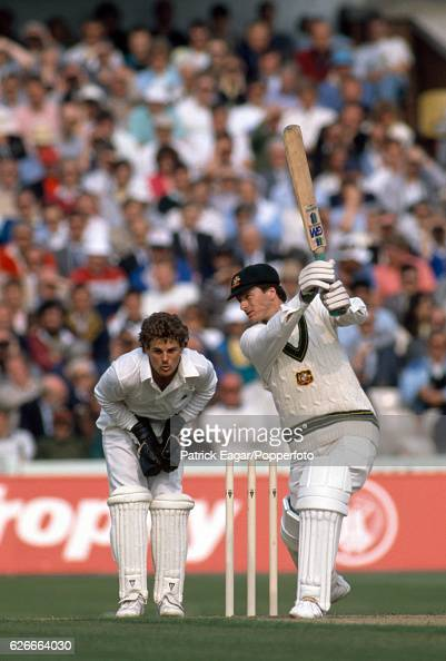 Steve Waugh batting for Australia during the 1st Texaco Trophy One Day International between England and Australia at Old Trafford Manchester 25th...