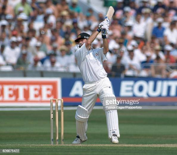 Steve Waugh batting for Australia during the 5th Test match between England and Australia at Trent Bridge Nottingham 7th August 1997