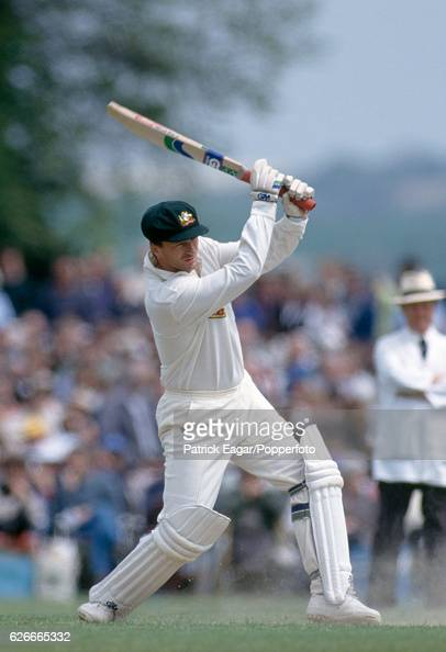 Steve Waugh batting for Australia during the tour match between Lavinia Duchess of Norfolk's XI and the Australians at Arundel 2nd May 1993
