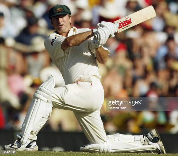 Steve Waugh of Australia in action during day three of the 4th Test between Australia and India at the SCG on January 4 2004 in Sydney Australia