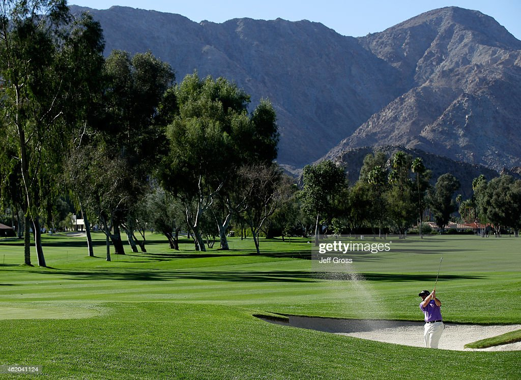 Steve Wheatcroft of the United States hits out the bunker on the 11th hole during round two of the Humana Challenge in partnership with The Clinton...