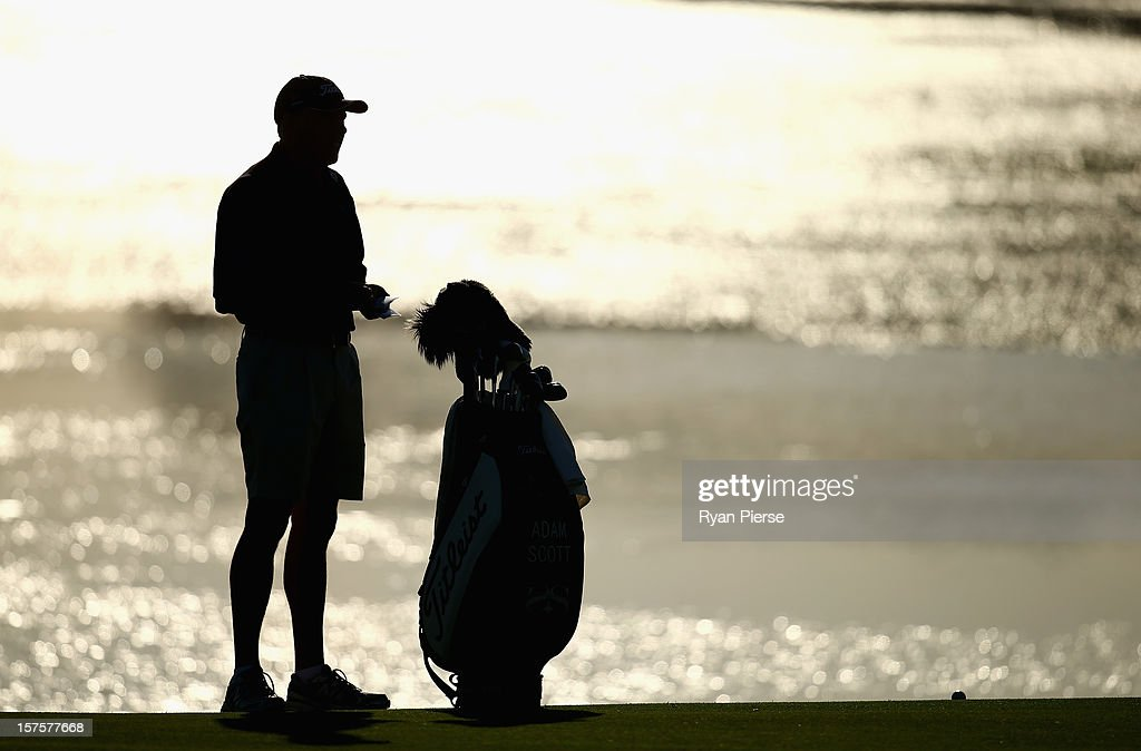 Steve Williams, caddie of Adam Scott of Australia, looks on during the Pro-Am ahead of the 2012 Australian Open, beginning tomorrow, at The Lakes Golf Club on December 5, 2012 in Sydney, Australia.