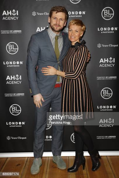 Steve Windolf and Kerstin Landsmann attend the Ahoi Agency Reception Tea Time And Champagne In Berlin Mitte on February 13 2017 in Berlin Germany