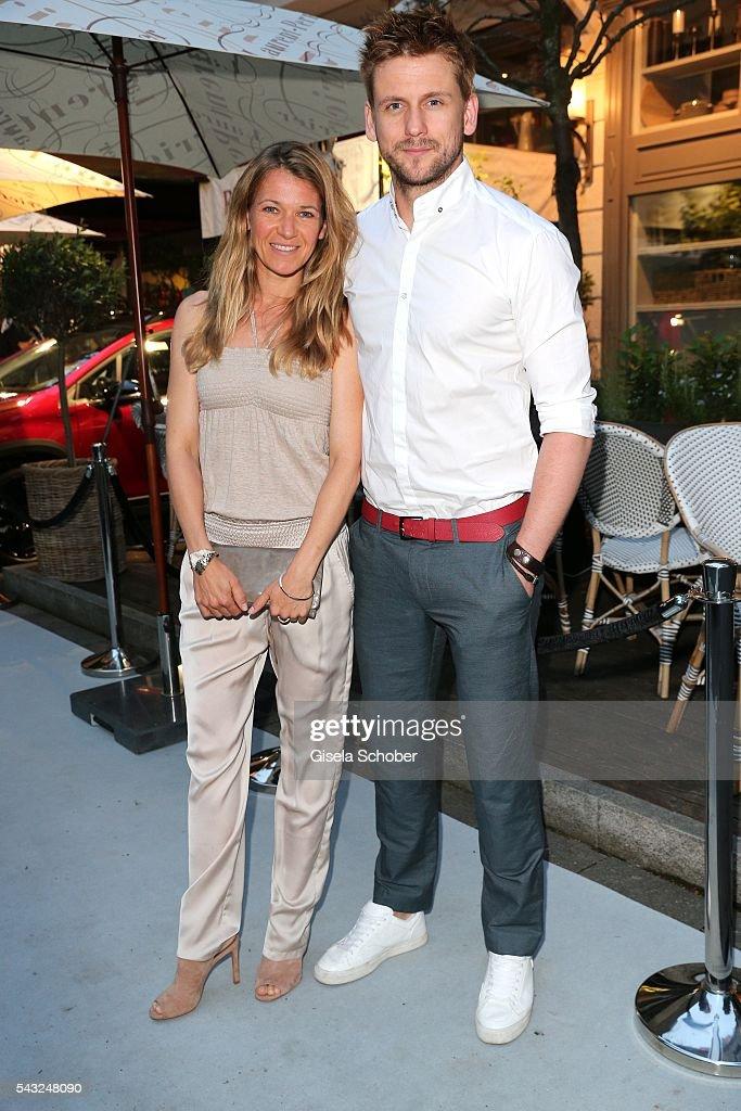 Steve Windolf and Kerstin Landsmann during the Peugeot BVC Casting Night during the Munich Film Festival 2016 at Kaeferschaenke on June 26, 2016 in Munich, Germany.