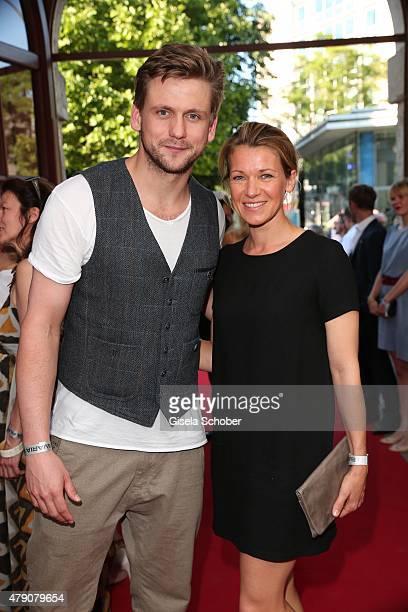 Steve Windolf Kerstin Landsmann attend the Bavaria Film reception during the Munich Film Festival at Kuenstlerhaus am Lenbachplatz on June 30 2015 in...