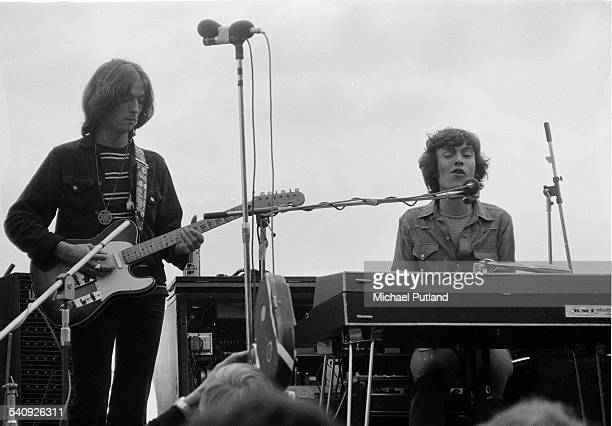 Steve Winwood and Eric Clapton during their time as Blind Faith at a free Hyde park concert London 7th June 1969