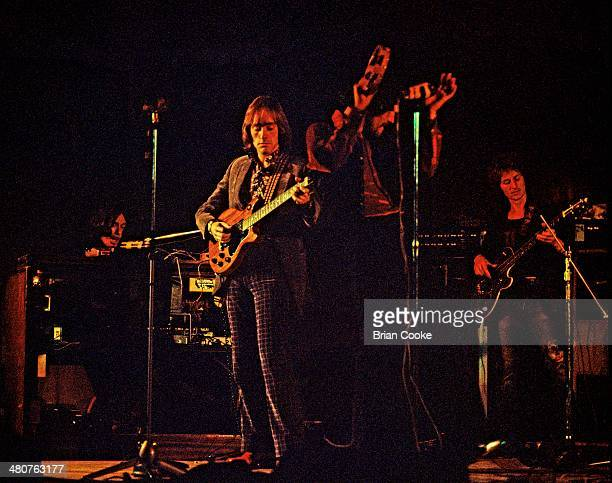 Steve Winwood Dave Mason Jim Capaldi and Ric Grech of Traffic performing at The Fairfield Hall Croydon on the 6th June 1971 while recording their...