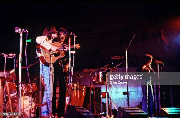 Steve Winwood Jim Capaldi and Chris Wood of Traffic performing at The Fairfield Hall Croydon on the 6th June 1971 while recording their live album...