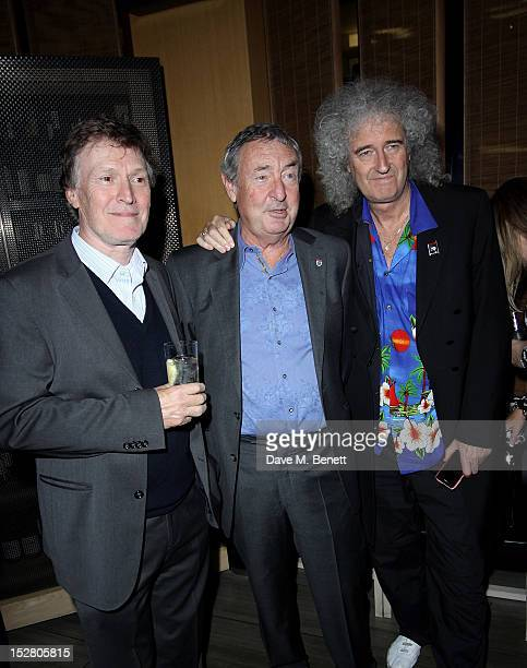 Steve Winwood Nick Mason and Brian May attend the Pig Business Fundraiser at Sake No Hana on September 26 2012 in London England