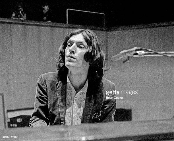 Steve Winwood of Traffic rehearsing at The Fairfield Hall Croydon South London in preparation for a recorded concert for their Welcome To The Canteen...