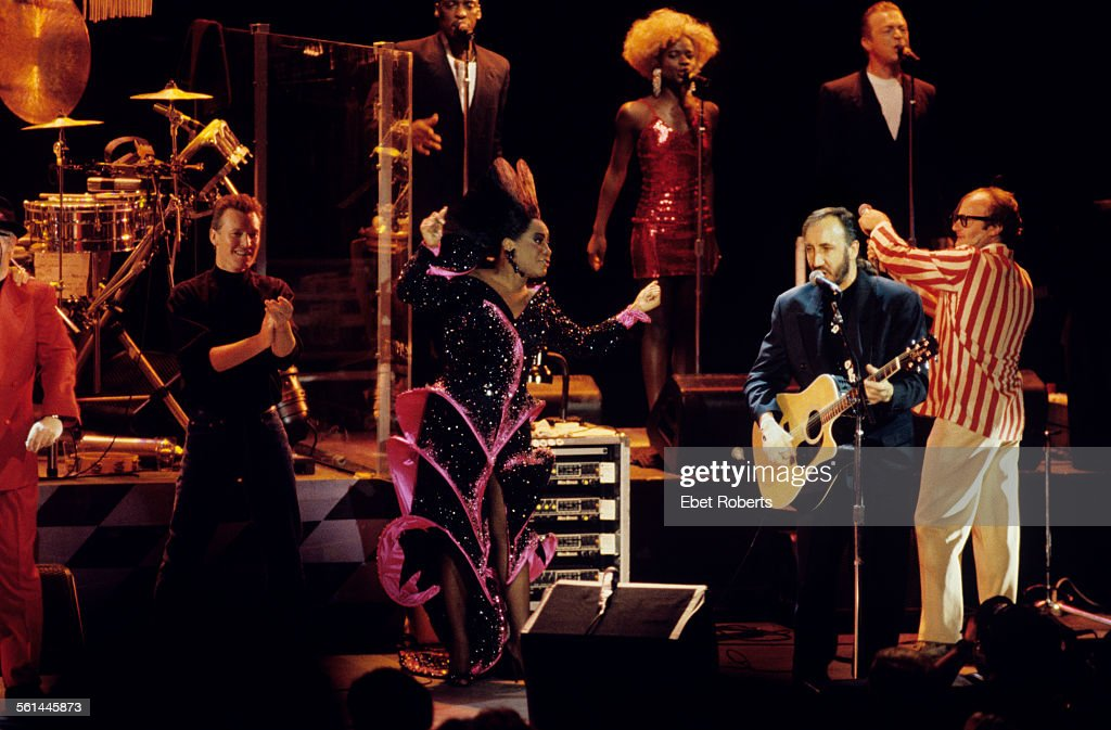 Steve Winwood Patti LaBelle Phil Collins join The Who for a performance of 'Tommy' at the Universal Amphitheater in Los Angeles California on August...