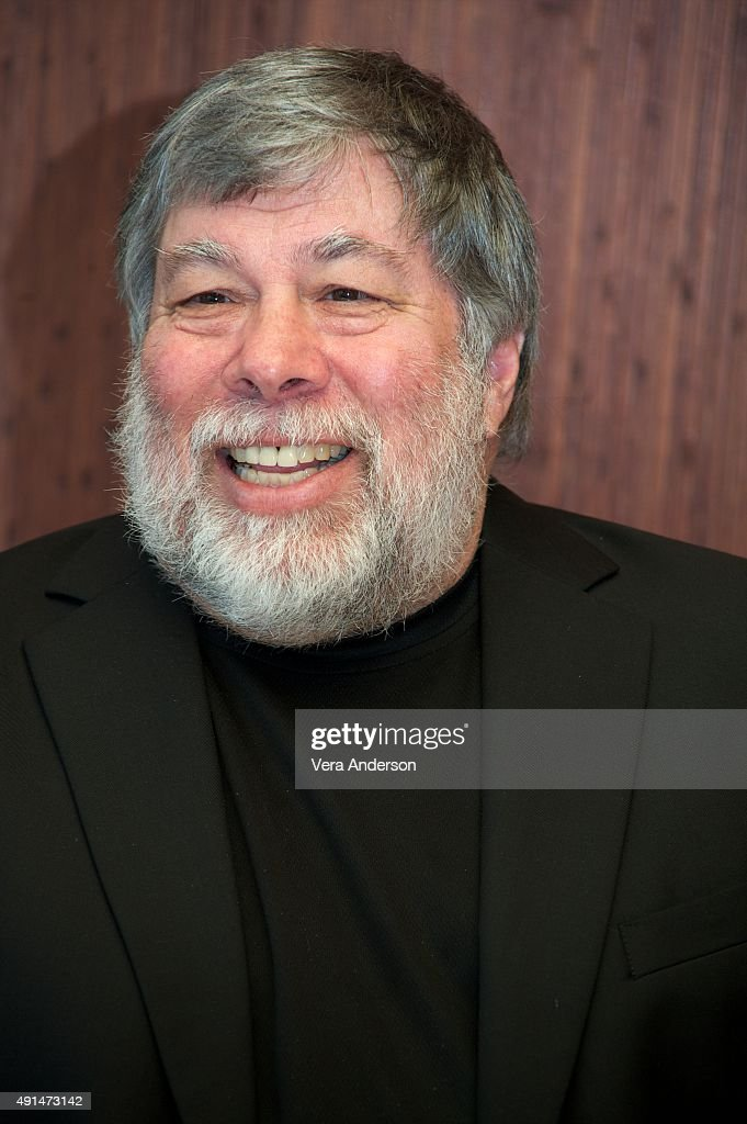 Steve Wozniak at the 'Steve Jobs' Press Conference at the Mandarin Oriental Hotel on October 3, 2015 in New York City.