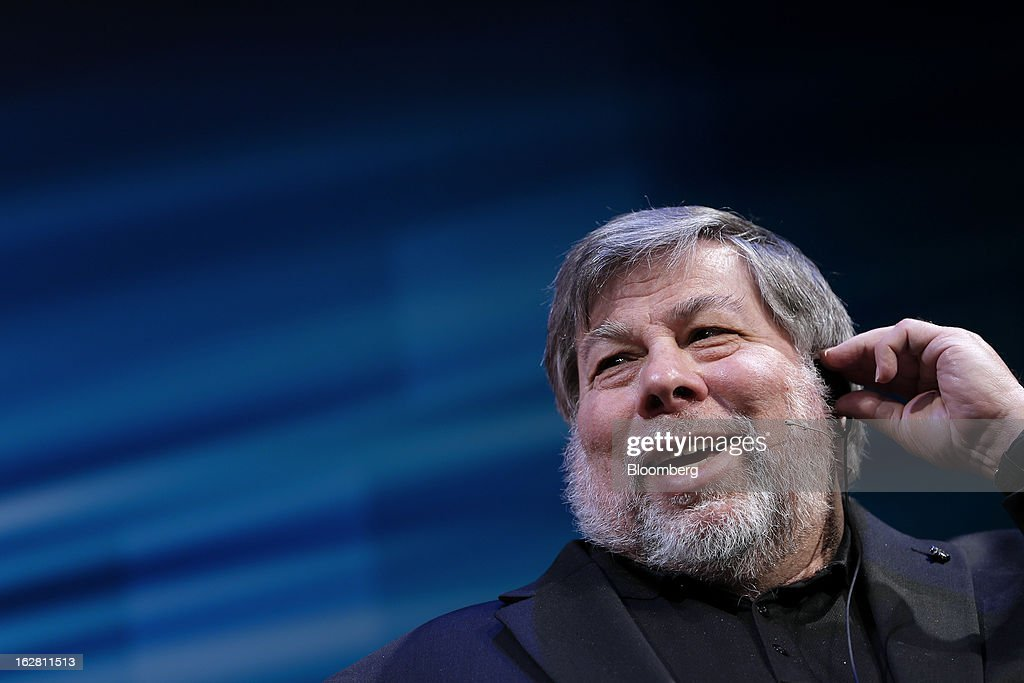Steve Wozniak, co-founder of Apple Inc. and chief scientist of Fusion-io Inc., speaks during a news conference in Tokyo, Japan, on Thursday, Feb. 28, 2013. Wozniak is currently chief scientist at Fusion-io, a maker of data-storage computers. Photographer: Kiyoshi Ota/Bloomberg via Getty Images