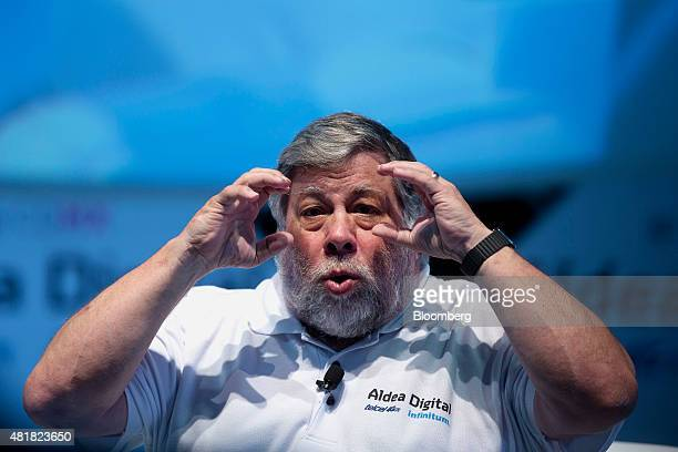 Steve Wozniak cofounder of Apple Inc and chief scientist of Primary Data speaks at Telcel's Digital Village hosted by Telmex and powered by Infinitum...