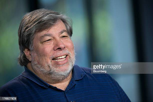 Steve Wozniak cofounder of Apple Inc speaks during a Bloomberg West Television interview in San Francisco California US on Friday Aug 16 2013 Wozniak...