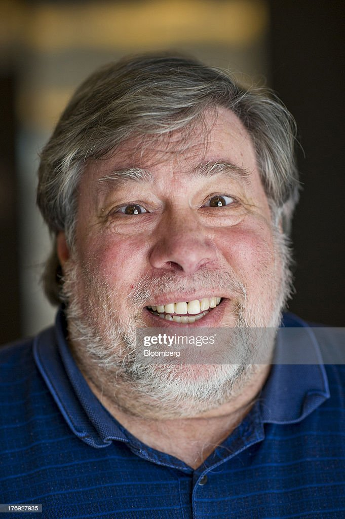 Steve Wozniak, co-founder of Apple Inc., stands for a photograph after a Bloomberg West Television interview in San Francisco, California, U.S., on Friday, Aug. 16, 2013. Wozniak talked about Apple co-founder Steve Jobs and the movie 'Jobs.' Photographer: David Paul Morris/Bloomberg via Getty Images