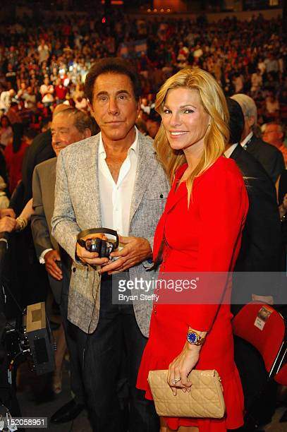 Steve Wynn and Andrea Wynn attend the Chavez Jr vs Martinez Fight at the Thomas Mack center cosponsored by the Wynn Las Vegas on September 15 2012 in...