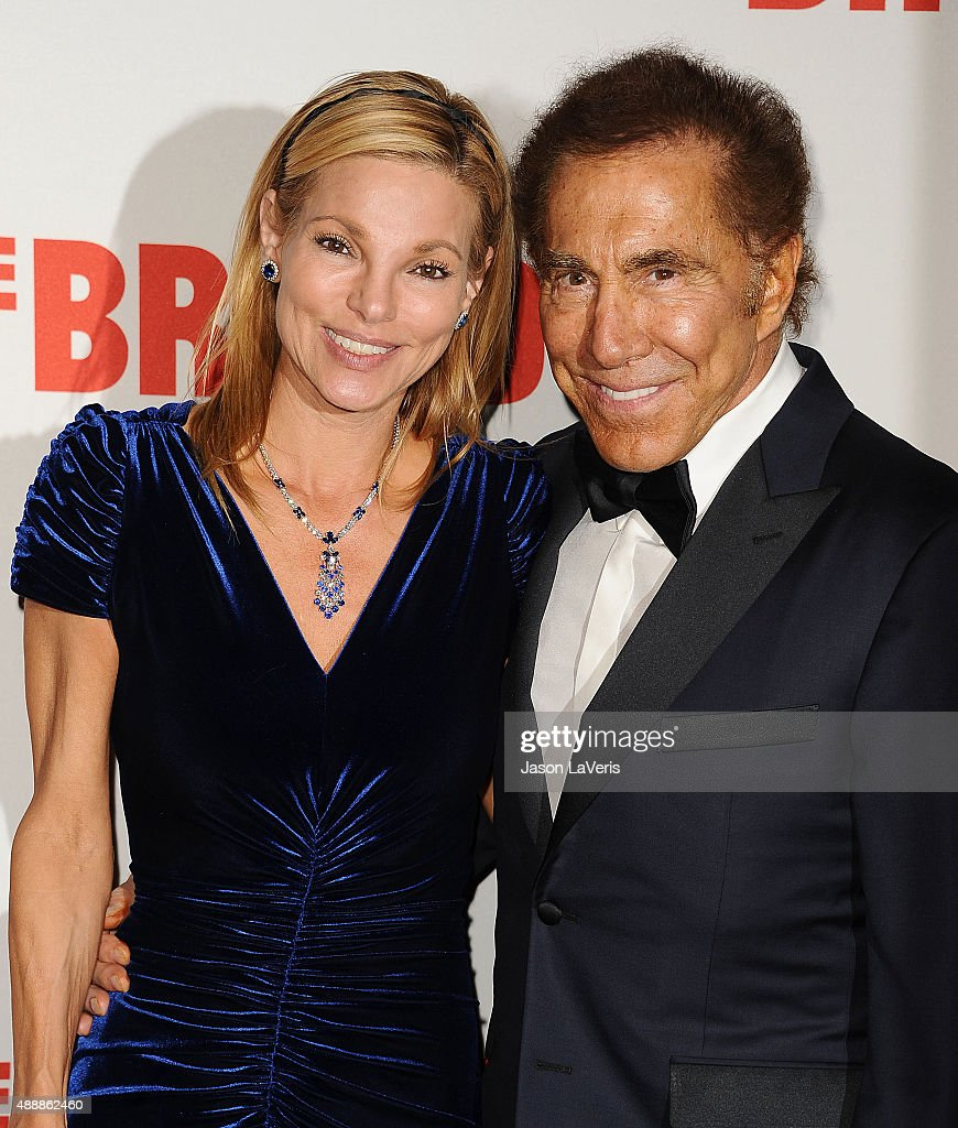 <a gi-track='captionPersonalityLinkClicked' href=/galleries/search?phrase=Steve+Wynn&family=editorial&specificpeople=696427 ng-click='$event.stopPropagation()'>Steve Wynn</a> (R) and wife Andrea Hissom attend the Broad Museum black tie inaugural dinner at The Broad on September 17, 2015 in Los Angeles, California.