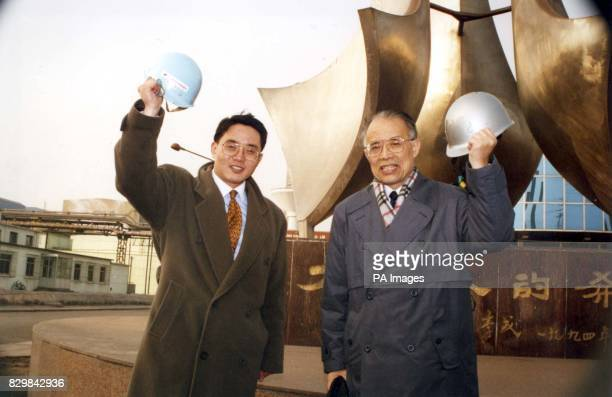 Steve Xu BOC's China's Businesss Development Manager with Professor Li Cheng Chairman of Taiyuan Iron and Steel Company after the two companies...