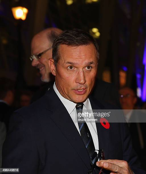 Steve Yzerman of teh Tampa Bay Lightning walks the red carpet prior to the 2015 Hockey Hall of Fame Induction Ceremony at Brookfield Place on...