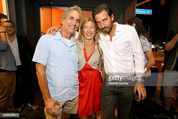 Steve Zimmerman Damiana Leoni and Guillaume Zarka attend Depart Foundation's preview and reception celebrating the first Los Angeles exhibition of...