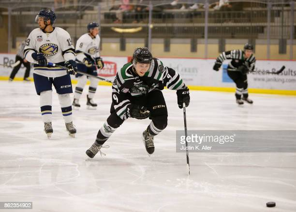 Steven Agriogianis of the Cedar Rapids RoughRiders skates during the game against the Sioux Falls Stampede on Day 2 of the USHL Fall Classic at UPMC...