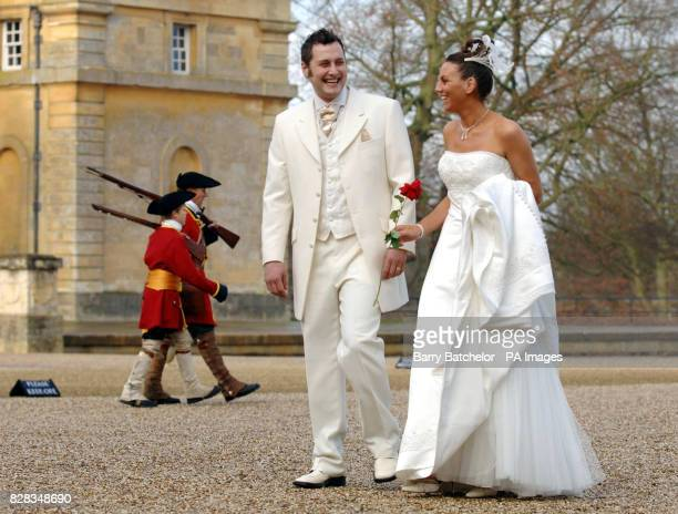 Steven and Belinda Miles at Blenheim Palace Oxfordshire Tuesday February 14th 2006 They were among 50 couples who celebrated Valentine's Day by...