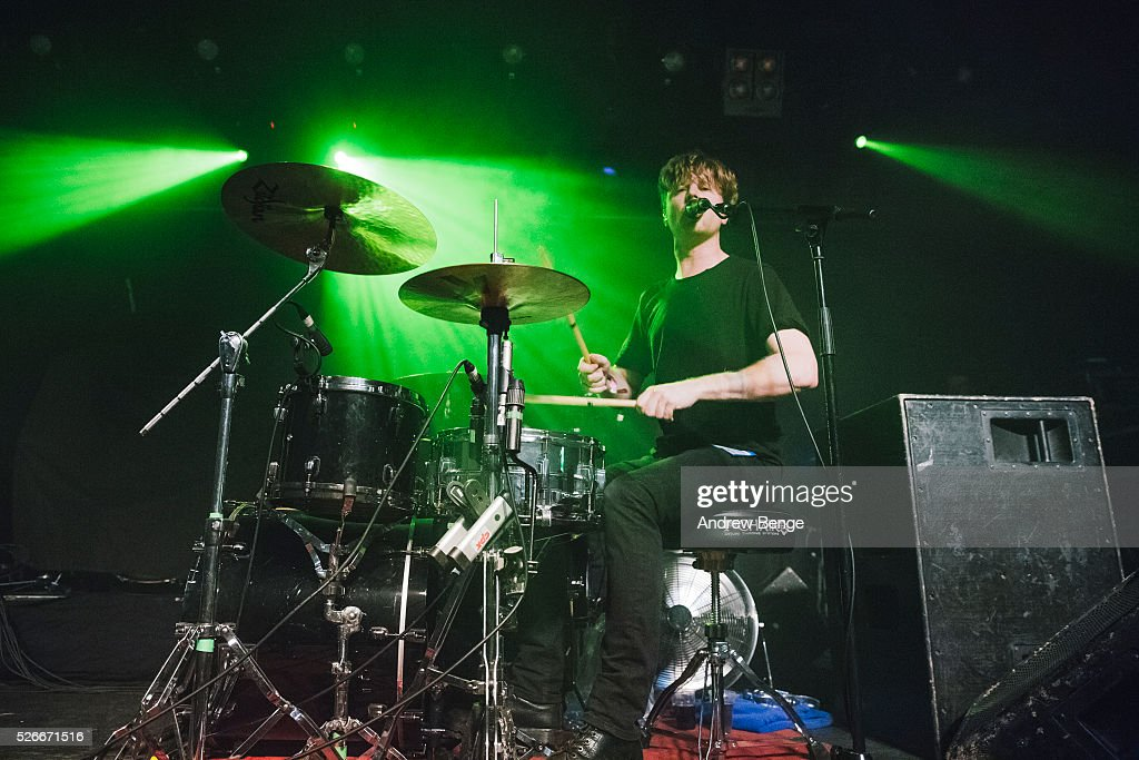 Steven Ansell of Blood Red Shoes performs at Beckett University during Live At Leeds on April 30, 2016 in Leeds, England.