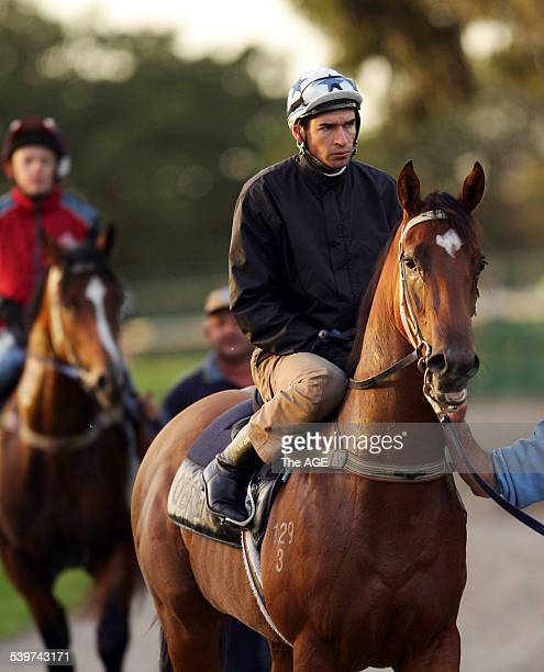 Steven Arnold aboard 2 year old My Only Hope on 7 February 2006 THE AGE SPORT Picture by VINCE CALIGIURI