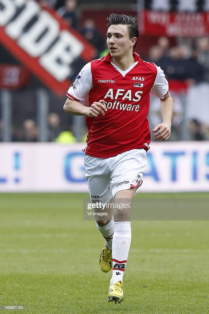Steven Berghuis of AZ during the Dutch Eredivisie match between AZ Alkmaar and Ajax Amsterdam at the AFAS Stadium on march 17, 2013 in Alkmaar, The Netherlands