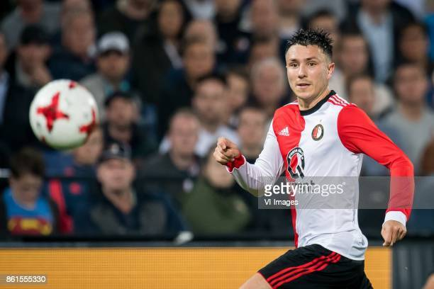 Steven Berghuis of Feyenoord during the Dutch Eredivisie match between Feyenoord Rotterdam and PEC Zwolle at the Kuip on October 14 2017 in Rotterdam...