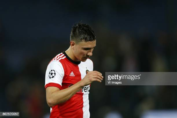 Steven Berghuis of Feyenoord during the UEFA Champions League group F match between Feyenoord Rotterdam and Shakhtar Donetsk at the Kuip on October...