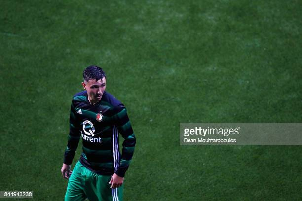 Steven Berghuis of Feyenoord looks on during the Dutch Eredivisie match between Heracles Almelo and Feyenoord Rotterdam held at Polman Stadion on...