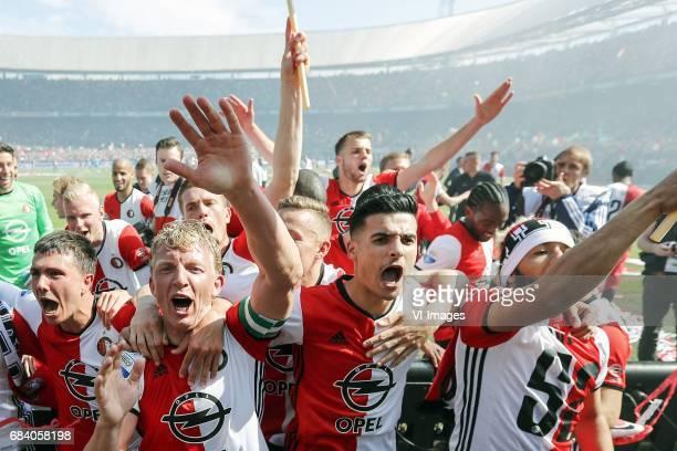 Steven Berghuis of Feyenoord Lucas Woudenberg of Feyenoord Karim El Ahmadi of Feyenoord Dirk Kuyt of Feyenoord Jens Toornstra of Feyenoord Bart...