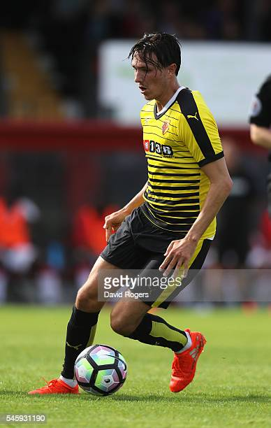Steven Berghuis of Watford runs with the ball during the pre season friendly match between Woking and Watford at The Laithwaite Community Stadium on...